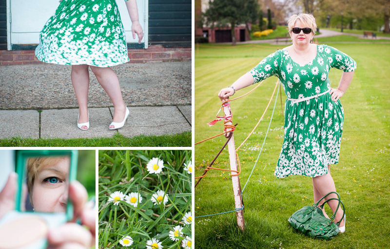 Curvy Colette A Dont Eat The Daisies Moneta on Twirly Border