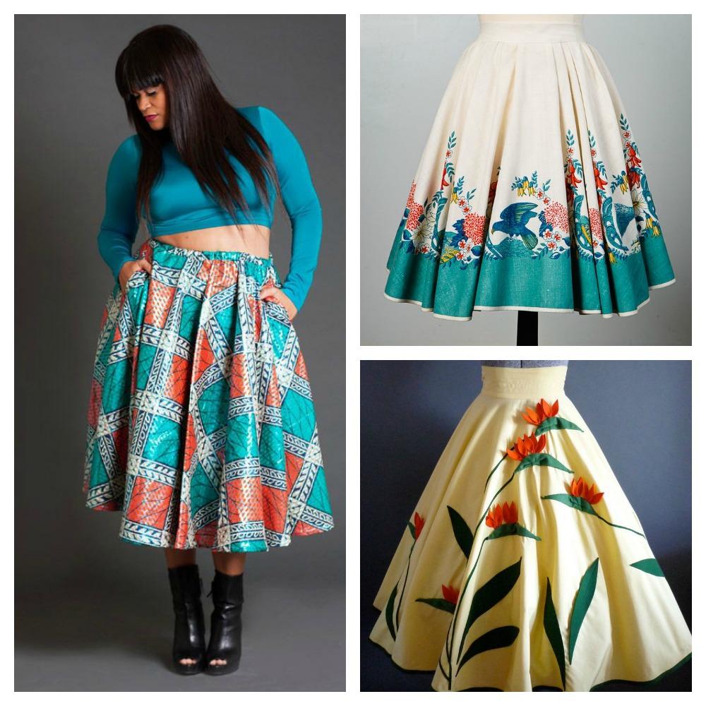Circular Skirt Patterns 105